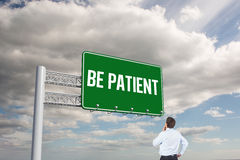 Be patient against sky Royalty Free Stock Photos