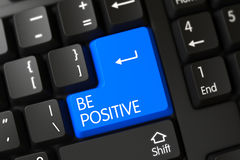 Be Positive - Modern Button. 3D. Royalty Free Stock Photography