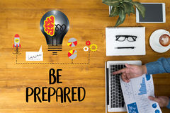 BE PREPARED concept , PREPARATION IS THE KEY  plan, prepare, per. Form Royalty Free Stock Photos