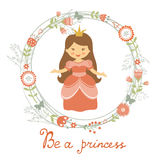Be a princess card Stock Photo