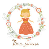 Be a princess card Royalty Free Stock Image