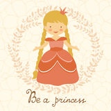 Be a princess card Stock Photos