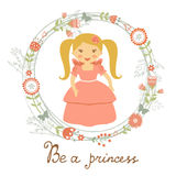 Be a princess card Royalty Free Stock Photo