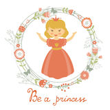 Be a princess card Stock Photography