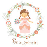 Be a princess cute card Stock Photography