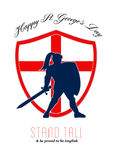 Be Proud to Be English Happy St George Day Poster Stock Photography