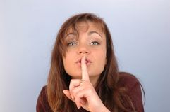 Be quiet... Shhh Royalty Free Stock Photos