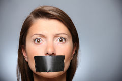 Be quiet! Royalty Free Stock Photography