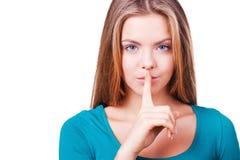 Be quiet! Royalty Free Stock Photos