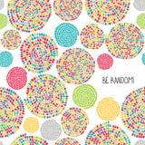 'Be Random!' greeting card. Seamless pattern. Stock Image