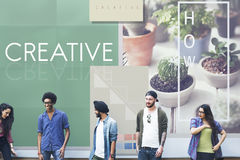 Be Raw Creative Design Ideas Concept.  Stock Photography