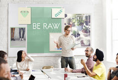 Be Raw Creative Design Ideas Concept Stock Images