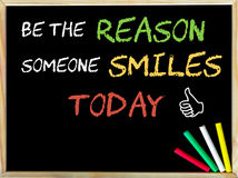 Be the reason someone smiles today and Like sign Stock Images