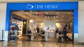 Be Relax spa in JFK stock video