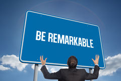Be remarkable against cloudy sky with sunshine Royalty Free Stock Photos