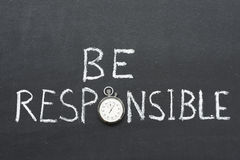 Be responsible Stock Images