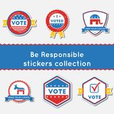 Be Responsible stickers set. Royalty Free Stock Photography