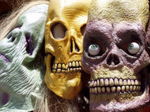 Be scared - very scared. Close up shot of very scary monster faces, almost nightmarish Royalty Free Stock Photography