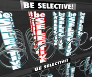Be Selective 3d Words Snack Vending Machine Choosy Picky Fussy D Royalty Free Stock Images