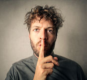 Be silent Stock Photography