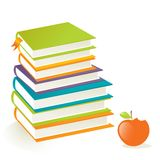 Be smart- books and apple Stock Image