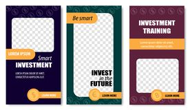 Be Smart Invest in Future Templates Social Media. royalty free illustration