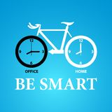 Be smart to riding bicycle. Design for variety use Stock Image