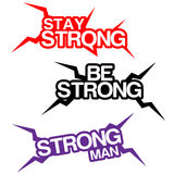 Be Strong, lettering Stock Photo