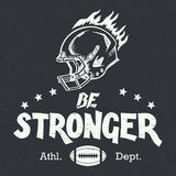 Be stronger american football hand-lettering Stock Photos