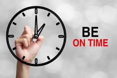 Be On Time Concept royalty free stock photos