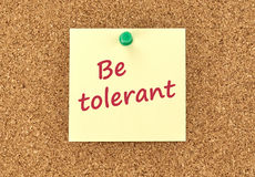 Be tolerant concept. Stock Photo