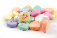 Be True Valentine's Hearts Royalty Free Stock Photography