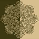 Beżu i zieleni ornamentu wzór Obraz Stock