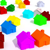 Be unique be different. Large image 3d of houses Stock Photography