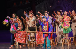 """Be universally condemned-Dance drama """"The Dream of Maritime Silk Road"""". Dance drama """"The Dream of Maritime Silk Road"""" centers on the plot of two Stock Image"""