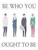 Be who you ought to be. Diferent professions Royalty Free Stock Photo