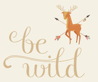 Be Wild lettering Stock Images
