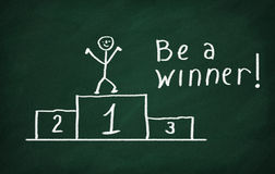Be a Winner Royalty Free Stock Photos