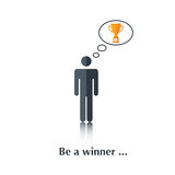 Be a winner Royalty Free Stock Images
