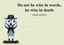 Be wise in deeds Stock Photo