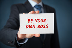 Be your own boss. Coach motivate to your own business (and freelance Royalty Free Stock Image