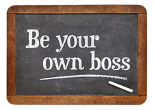 Be your own boss - self employment concept Royalty Free Stock Photos