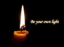 Be your own light Royalty Free Stock Photos