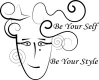 Fashion logo - Be Your Self. Be Your Style! Be Your Self! Be Unique Stock Image
