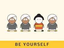 Be yourself concept. Stock Photos