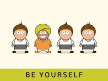 Be yourself concept. Royalty Free Stock Images