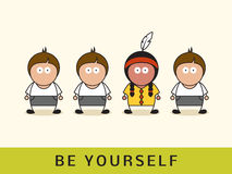 Be yourself concept. Royalty Free Stock Image
