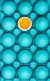 Be yourself creative visual art concept with painted eggs. Pattern royalty free stock photos