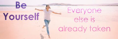 Free Be Yourself, Everyone Else Is Already Taken Self Confidence Motivational Quote For Happiness And Self -esteem Boost Stock Images - 195137134