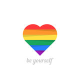 Be yourself with iridescent heart Stock Photo